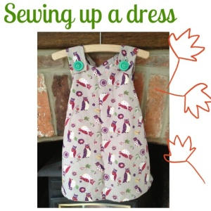 Sewing up a toddler dress