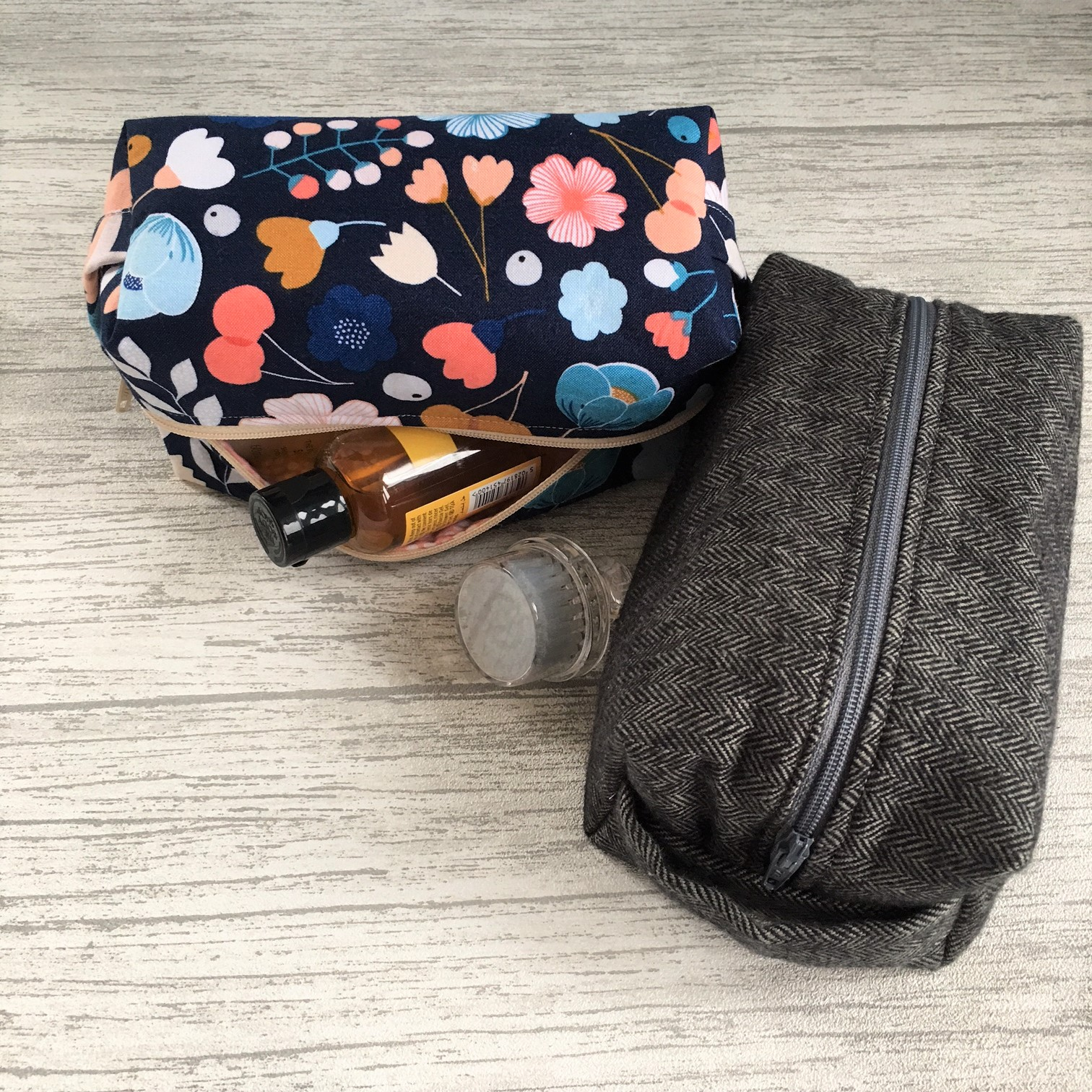 sewing boxy pouch